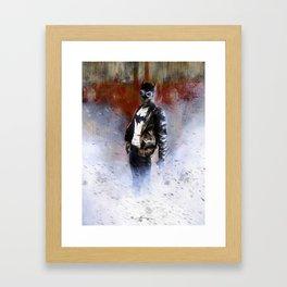 Bat-man Rockabilly Framed Art Print