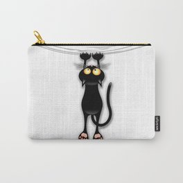 Fun Black Cat Falling Down Carry-All Pouch