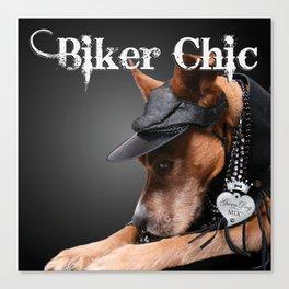 Biker Chic Canvas Print