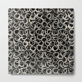 Paint Brush Circles Metal Print
