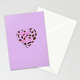 BeautyIsAReligion `Leopard Heart` Stationery Cards