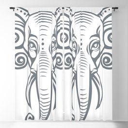 elephant head Blackout Curtain