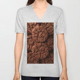 Group of dark chocolate cookies Unisex V-Neck
