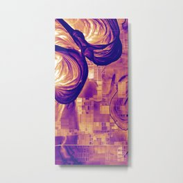 Mississippi Delta Fields and Meanders Metal Print
