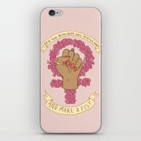 kendrawcandraw iPhone & iPod Skins featuring Femme Is Not Fragile by kendrawcandraw