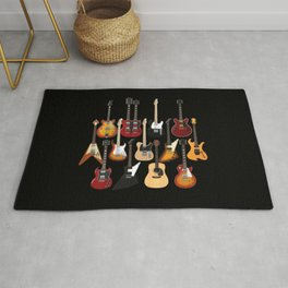 Too Many Guitars! Rug