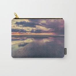 Stormy Beach Sunset Carry-All Pouch