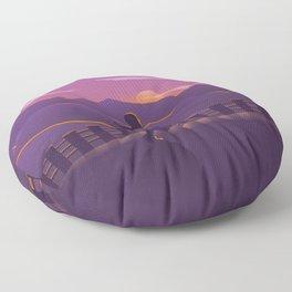 Running sunrise Floor Pillow