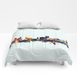 Buffalo New York Skyline Comforters