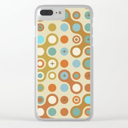 Retro pattern N1 Clear iPhone Case