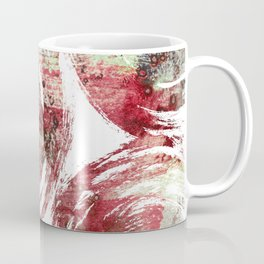 Rust : Red, maroon, brown, and yellow-green abstract ink painting Coffee Mug