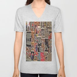 Retro Advertisements  Unisex V-Neck