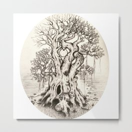 Love Is The Roots of All Metal Print