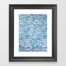 Marble Mosaic in Sapphire and Emerald Framed Art Print