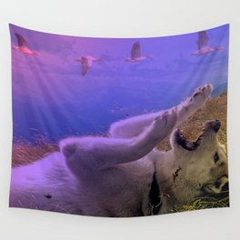 Siberian Husky Digit. Edition Wall Tapestry