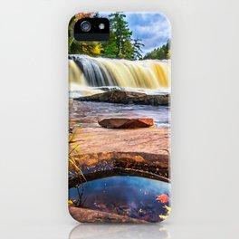 Mandio Falls - Porcupine Mountains iPhone Case