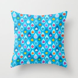 April Showers Bring Cute Flowers Throw Pillow