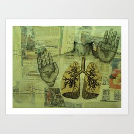 The Infinite Mind of a Sinner: Unraveling The Map of Life Art Print