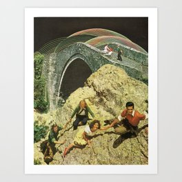Night Climb Art Print