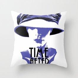 Time After Time Bleu Throw Pillow