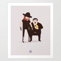 wwe Art Prints featuring The Undertaker & Paul Bearer - Pro Wrestling WWE Illustration by donutglow