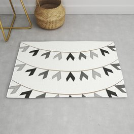 Cute Dangling Triangle Rope Pattern Rug