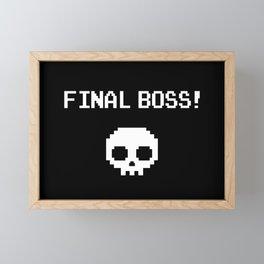 Pixel skull Framed Mini Art Print