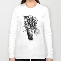 snow leopard Long Sleeve T-shirts featuring Snow Leopard by pbnevins