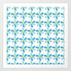 Blue Flower Pattern Art Print