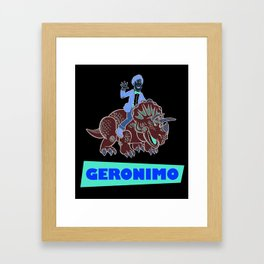 """GERONIMO"" Framed Art Print"