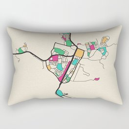 Colorful City Maps: Alice Springs, Australia Rectangular Pillow