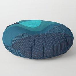 Abstraction_BLUE_MOON_NIGHT_Minimalism_001 Floor Pillow