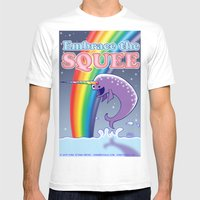 Embrace The Squee! White MEDIUM Mens Fitted Tee