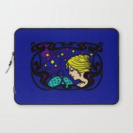 Mystical Art Nouveau Astral Woman Laptop Sleeve