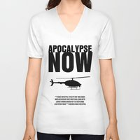 apocalypse now V-neck T-shirts featuring Apocalypse Now Move Poster by FunnyFaceArt