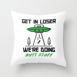 Butt Stuff Throw Pillow