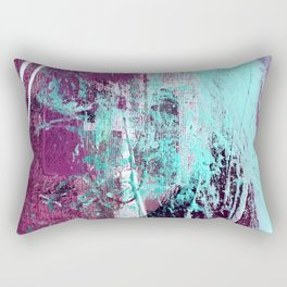 01012: a vibrant abstract piece in teal and ultraviolet Rectangular Pillow