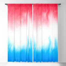Red White and Blue Flowing Watercolors Blackout Curtain