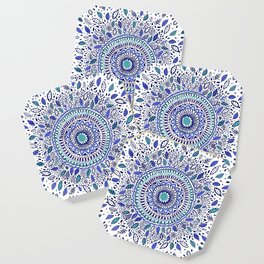Indigo Flowered Mandala Coaster