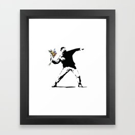 Banksy Flower Thrower Framed Art Print