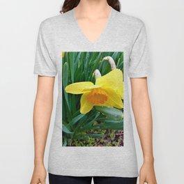 Natures Tears Of Joy On The Daffodil Unisex V-Neck