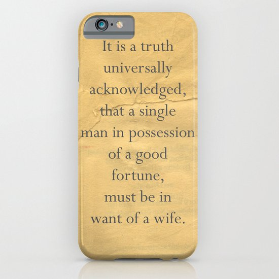 It is a truth universally acknowledged... iPhone & iPod Case