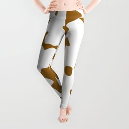 Large Spots - White and Golden Brown Leggings