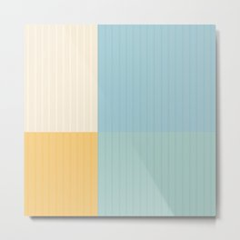 Color Block Line Abstract III Metal Print