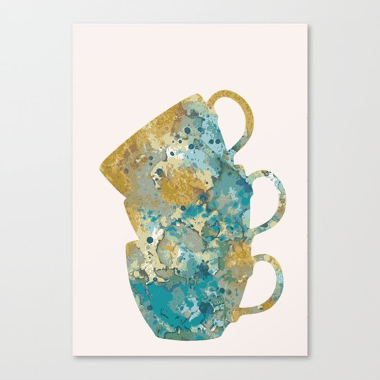 Three cups in pink Canvas Print