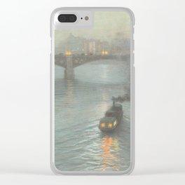 Birge Harrison - Evening On The Seine Clear iPhone Case