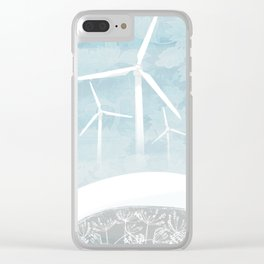 Misty Turbines Clear iPhone Case