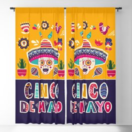 Cinco de Mayo – Scull Blackout Curtain