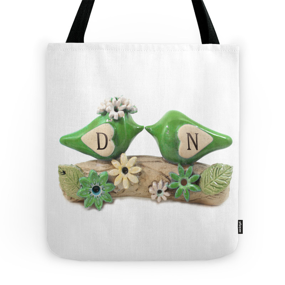 Green Birds Tote Purse by orlydesigns (TBG7816513) photo
