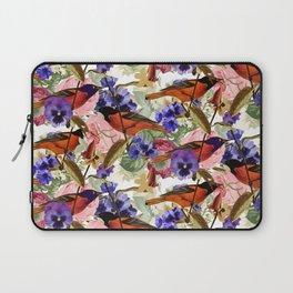 Floral Birds Pattern Laptop Sleeve